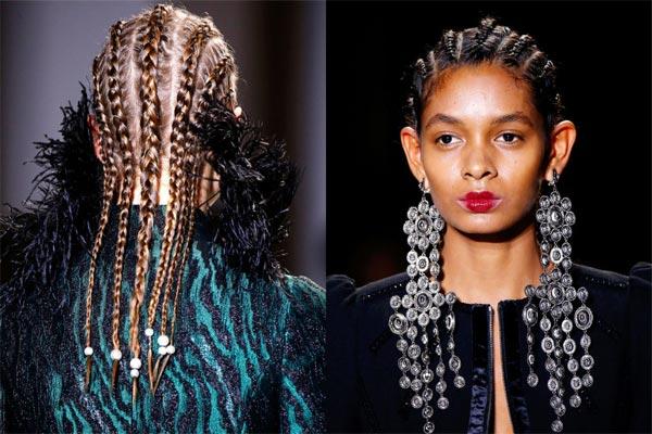 Осенью и зимой в моде африканские косички