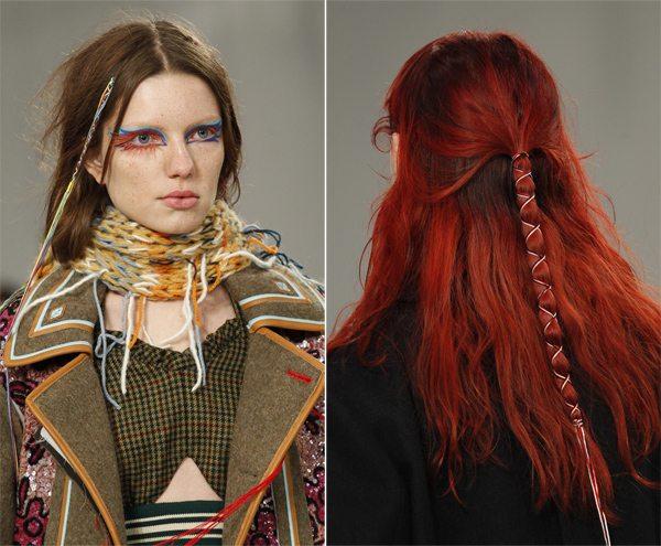 Модные прически на длинные волосы осень-зима 2017-2018 Maison Margiela