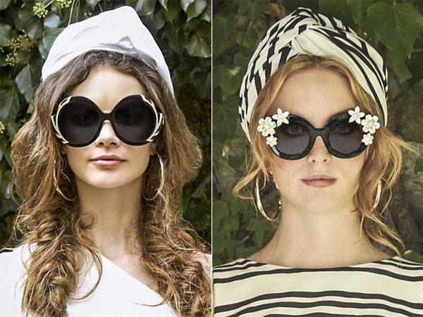 Солнечные очки с декором от Alice + Olivia для лета 2017