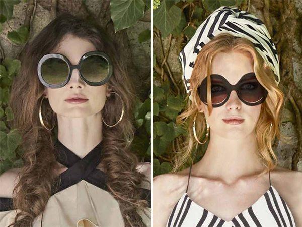 Модные солнцезащитные очки в круглой оправе и стиле ретро для лета 2017 от Alice + Olivia