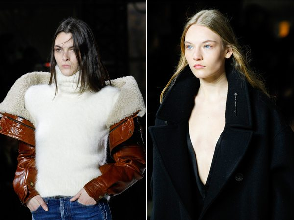 Прически на показе Saint Laurent осень-зима 2017-2018