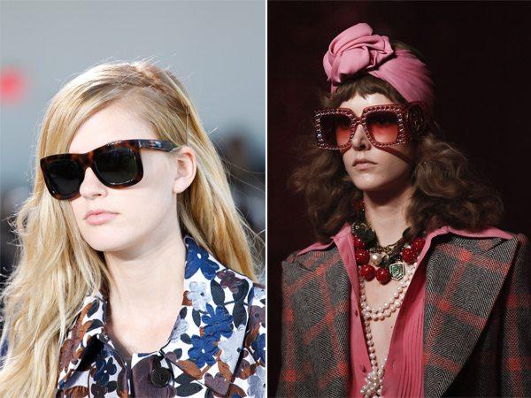 Модные оправы солнцезащитных очков из коллекций Michael Kors и Gucci для лета 2017