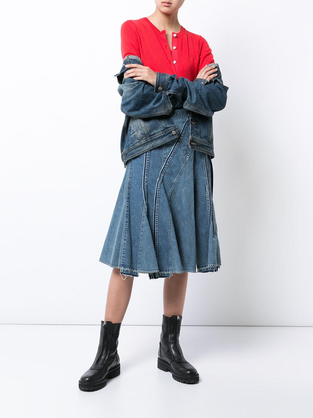 Джинсовая юбка с клиньями