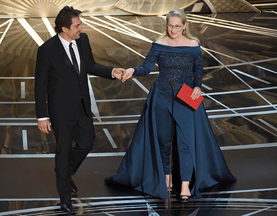 Стрип на вручении Оскара в платье от Elie Saab
