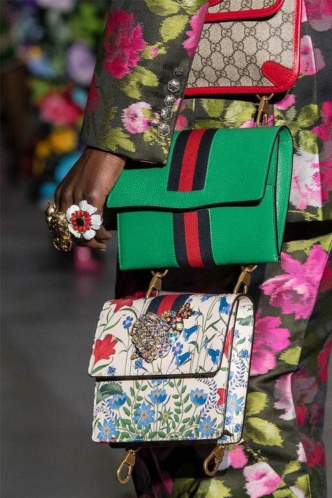 Один образ - три сумки! Gucci FW 2017-2018