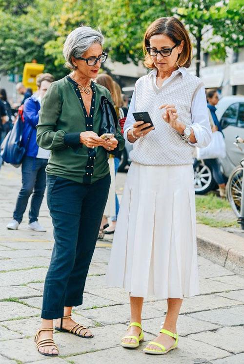 Модные луки для лета и осени 2017 демонстрируют женщины 50+