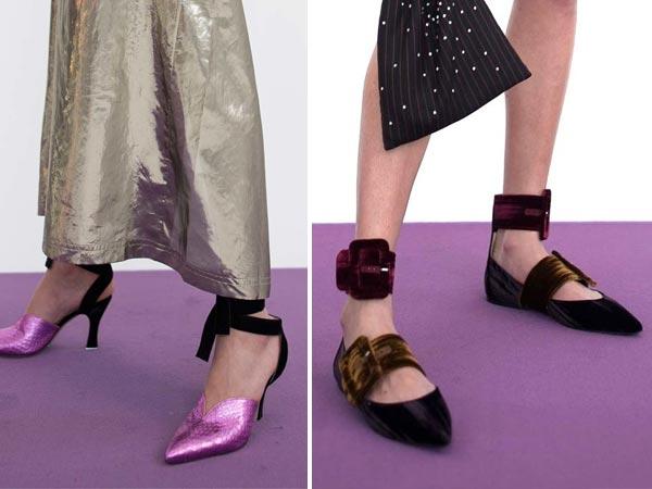Модные бархатные туфли Attico для осени 2017
