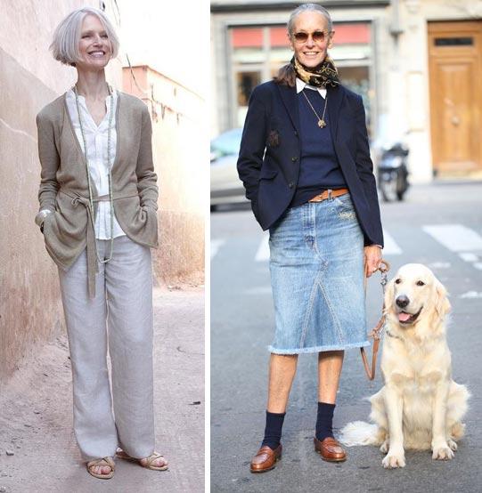 Образы для лета и ранней осени на пожилых моделях