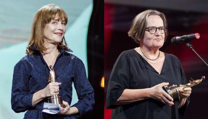 Изабель Юппер и Агнешка Холланд на церемонии вручения наград ОМКФ-2017