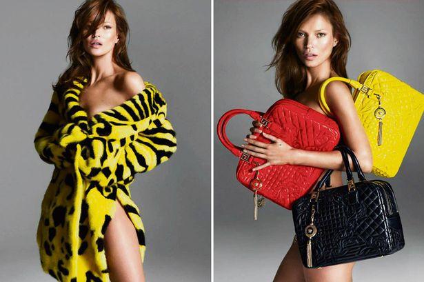 Супермодель Кейт Мосс в рекламе Versace