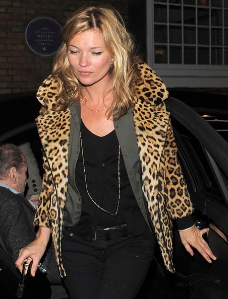 Кейт Мосс часто выбирает леопардовый принт