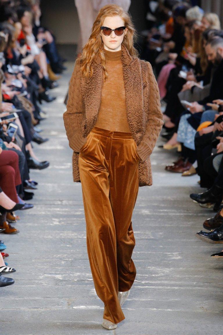 Коричневые брюки из осенне-зимней коллекции Max Mara