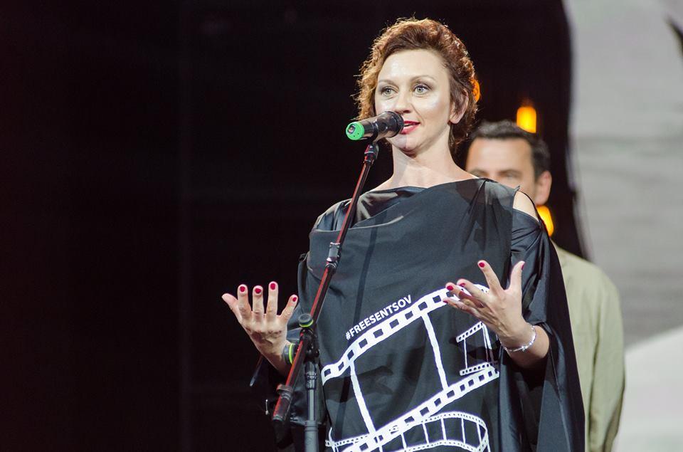 Римма Зюбина на церемонии закрытия ОМКФ-2017