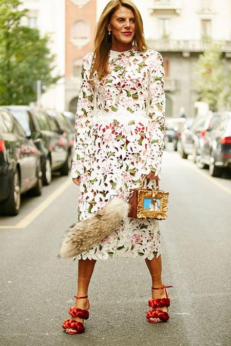 Анна Делло Руссо на Неделе моды в Милане