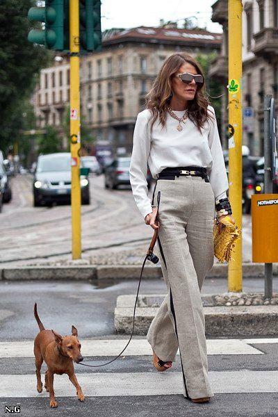 Анна Делло Руссо и ее собака