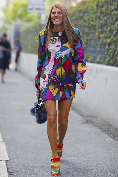 Анна Делло Руссо в платье Prada