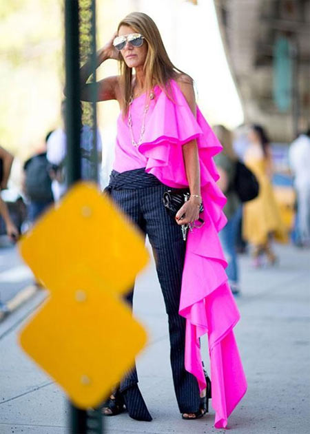 Анна Делло Руссо На Неделе моды в Нью-Йорке