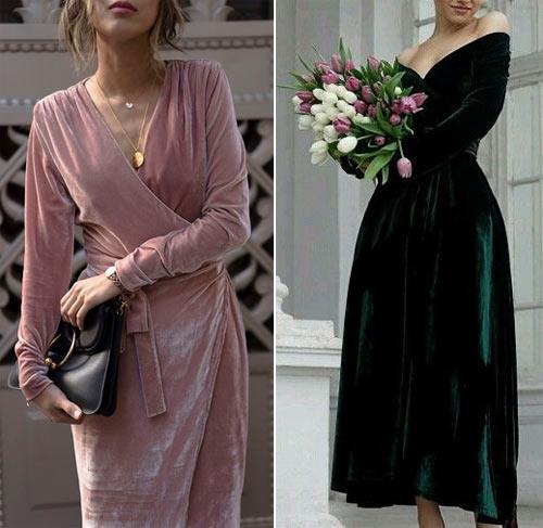Нарядные платья из бархата