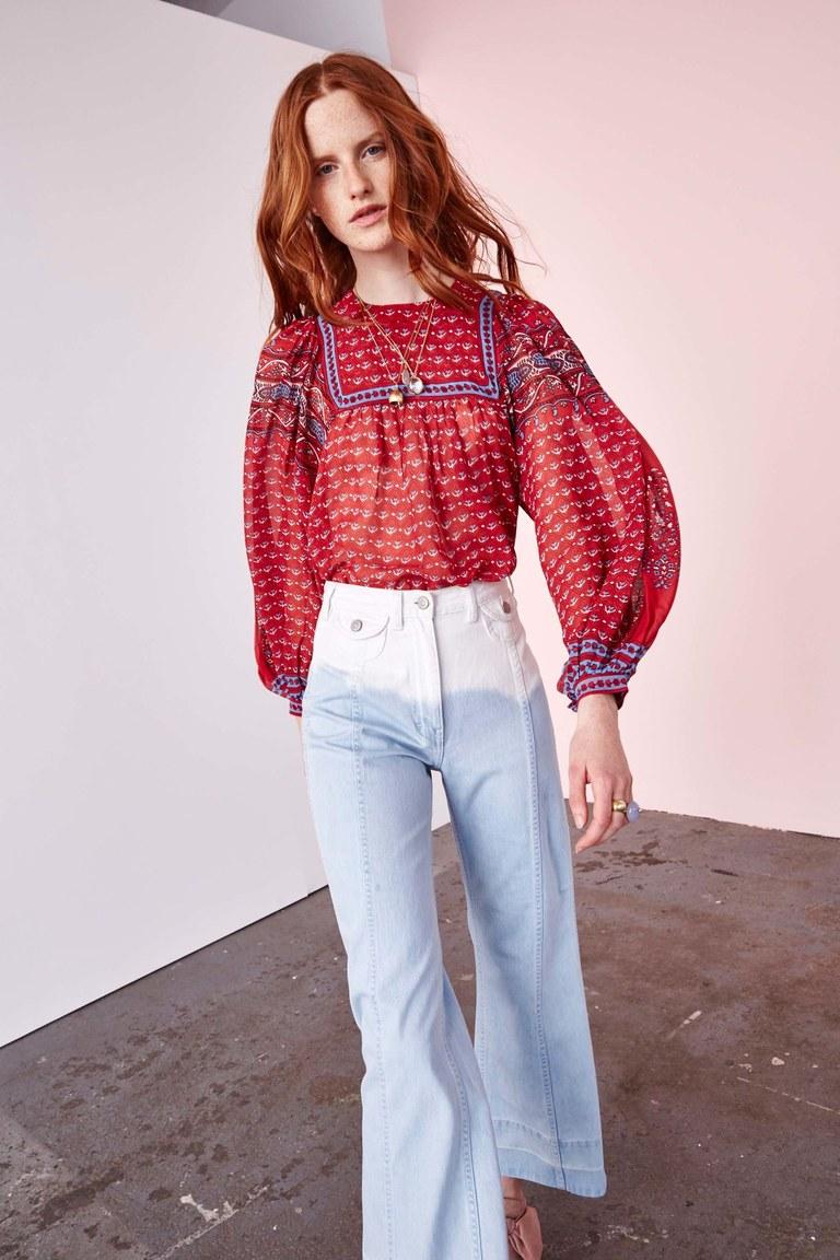 Коллекция Ulla Johnson. Брюки с высокой талией и объемная блуза
