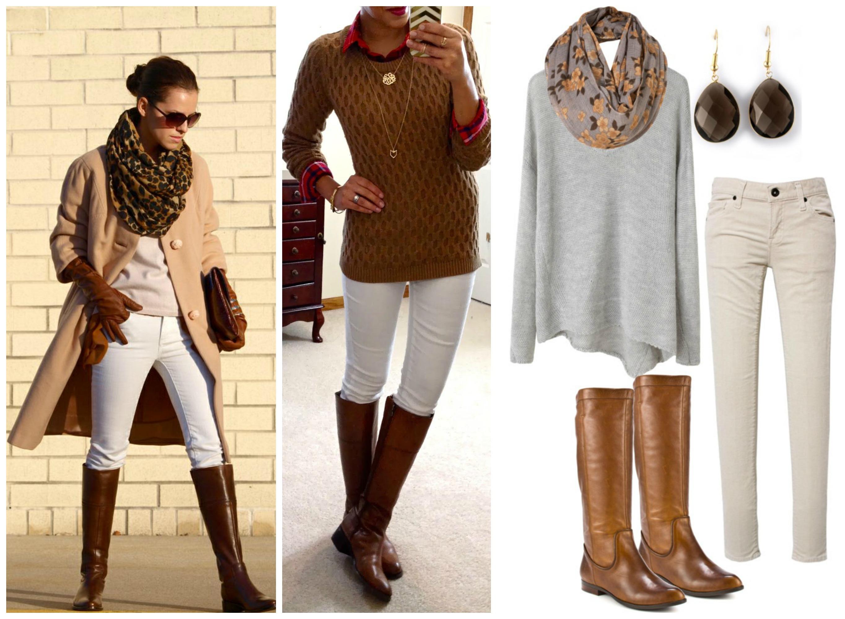 С чем носить белые джинсы зимой