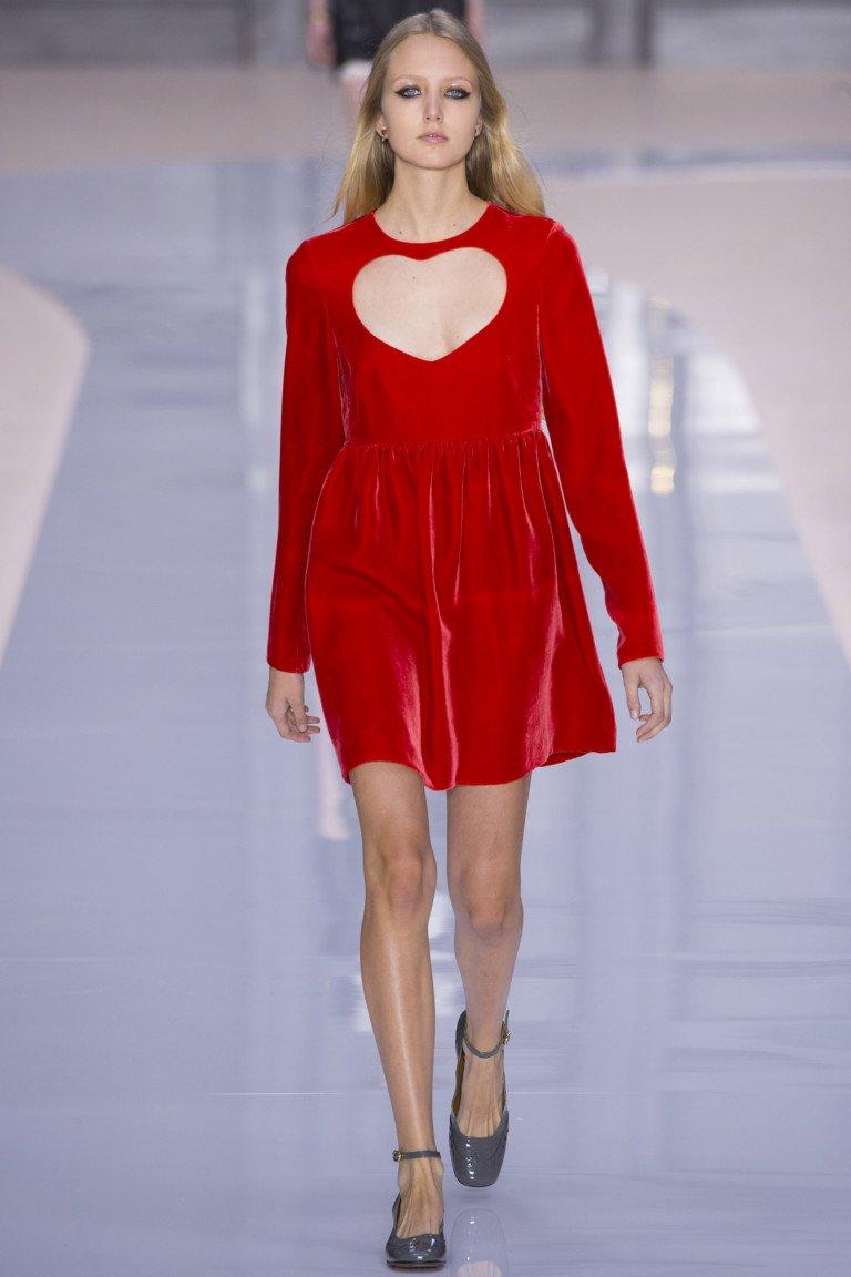 Красное платье из коллекции Chloé