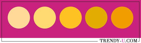 Фуксия и желтый. Тепловой контраст