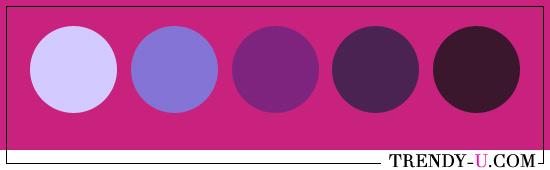 Фуксия и фиолетовый. Сочетания