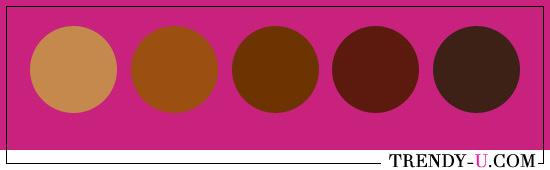 Фуксия и коричневый
