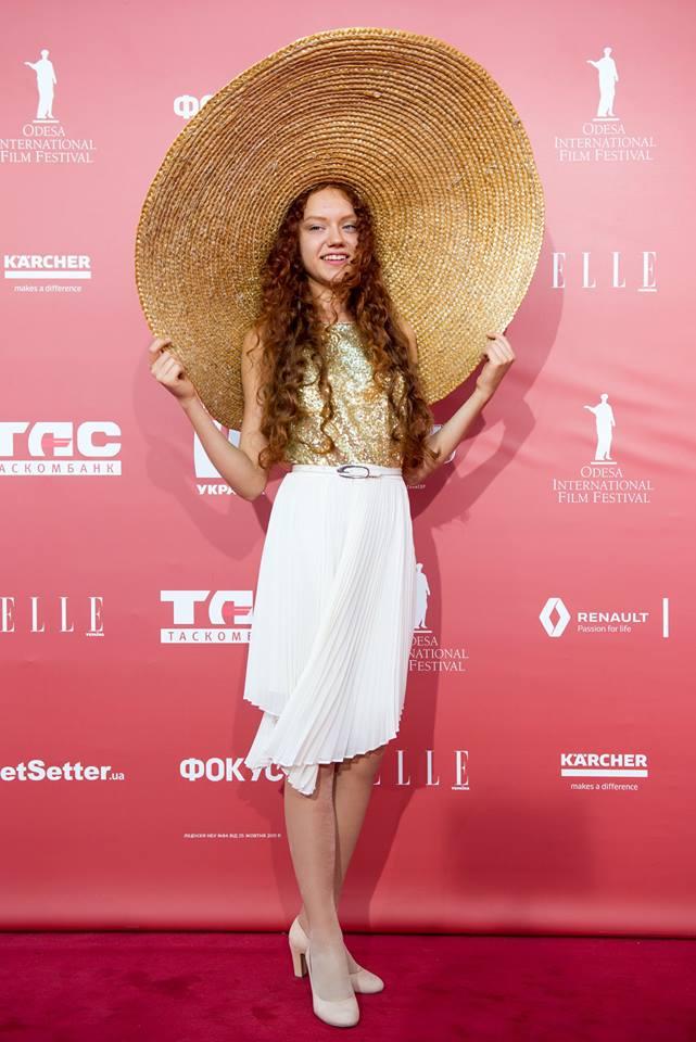 Участница 8-го Одесского международного кинофестиваля - исполнительница главной роли DixiLand