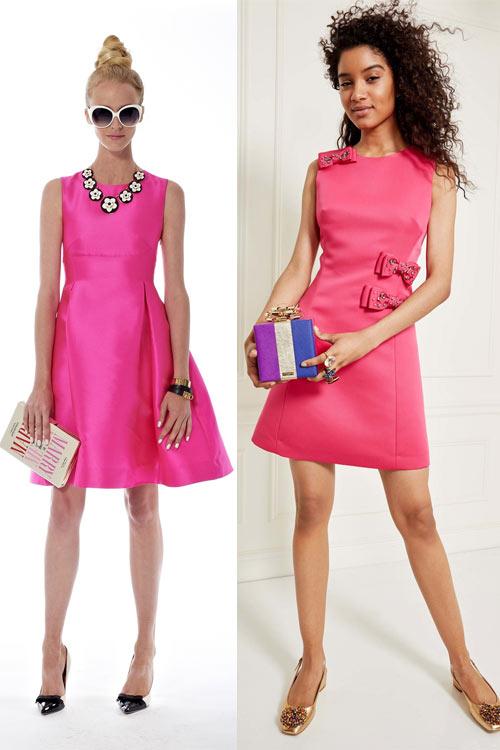 Платья цвета фуксии из коллекций Kate Spade