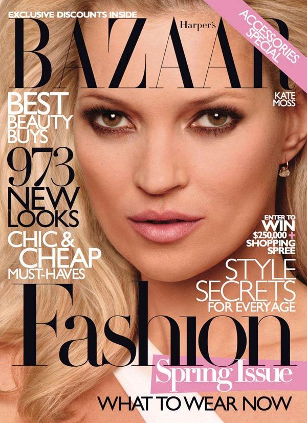Мосс на обложке журнала Harper's Bazaar