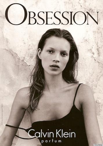 Кейт Мосс в рекламе Calvin Klein. 1993 год