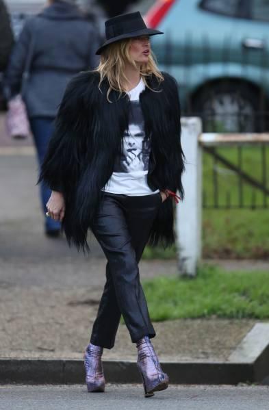 Уличный стиль Кейт Мосс