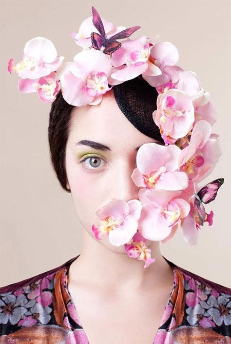 Пример макияжа к платью цвета фуксии