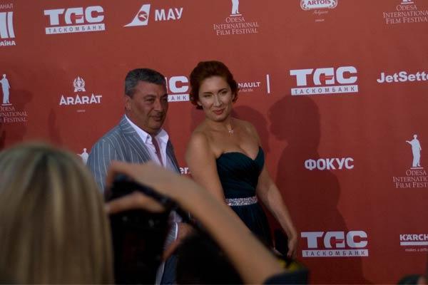 Гости Одесского кинофестиваля: фотограф Борис Бухман и волонтер Виктория Пастерначенко