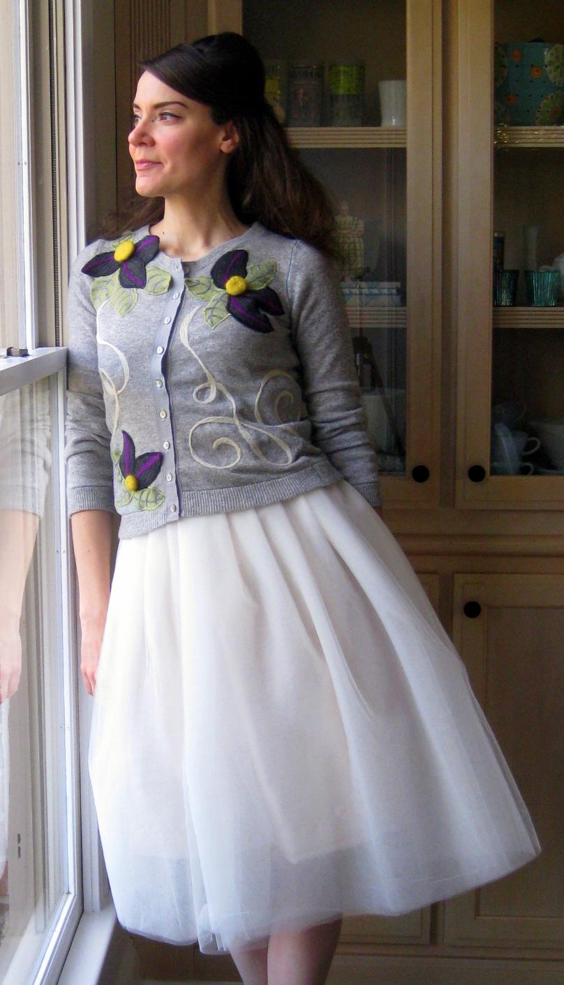 С чем носить белую юбку пачку