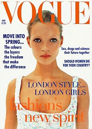 Первая обложка Кейт Мосс. Журнал Vogue