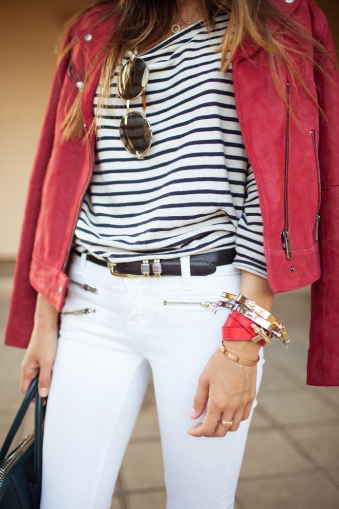 Белые джинсы подчеркнут ваше умение подбирать аксессуары