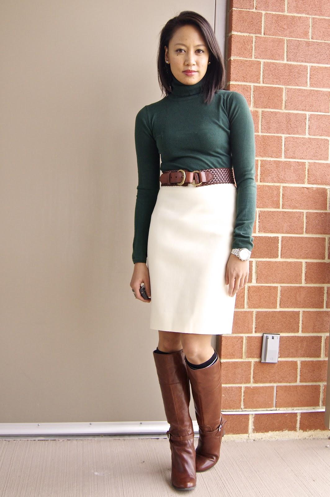 С чем носить юбку карандаш зимой