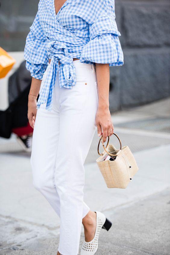 Белые джинсы в весенне-летнем сезоне