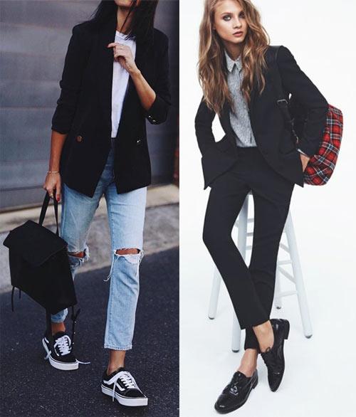 Черные и голубые джинсы для походов в ВУЗ