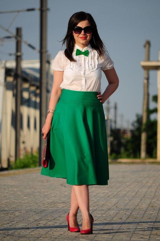 Зеленая Юбка С Блузкой