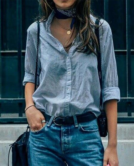 Рубашка в сочетании с джинсами - вполне допустимый вариант на каждый день