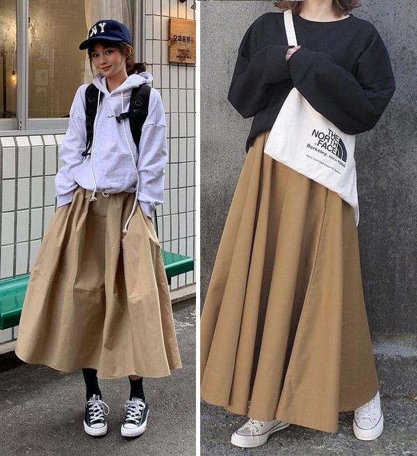 Длинная юбка на пары или уроки
