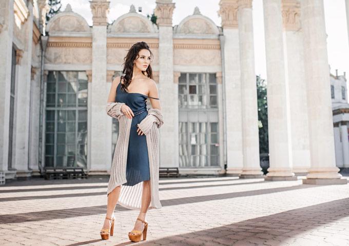 Накидка трикотажная от Анны Козырь
