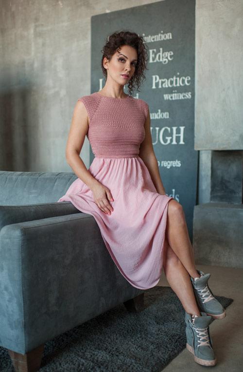 Летнее платье от KOZZYR на Анне Козырь