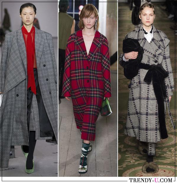 Модные клетчатые пальто от Balenciaga, Butberry и Simon Rocha осень-зима 2017-2018