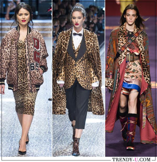 Верхняя зимняя женская одежда в коллекциях Dolche Gabanna Etro осень-зима 2019-2020