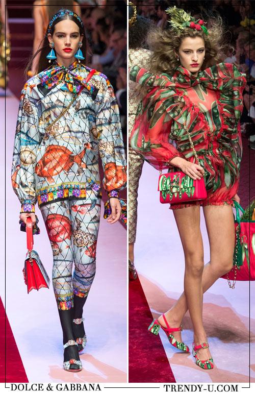 Образы в стиле поп-арт из весенне-летней коллекции Дольче и Габбана 2018