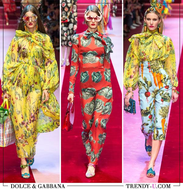 Коллекция Dolce & Gabbana весна-лето 2018